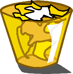 icon, yellow, can, trash, theme, garbage, scraps, scrap