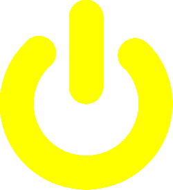 icon, yellow, off