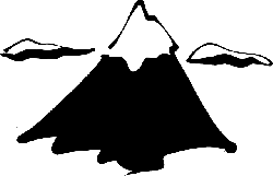 ink, black, top, simple, outline, mountain, drawing