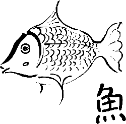 ink, food, cartoon, fish, outlines, drawings, fishes