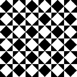 inside, rotated, squares, black, white, pattern