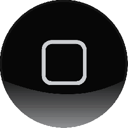 iphone, apple, black, button, circle, ipod, rectangle