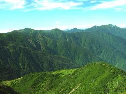 japan, sky, clouds, mountains, valley, ravine, gorge