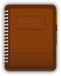 journal, book, diary, log, marker, spiral, student