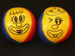 juggling balls, balls, juggle, face, clown, colorful