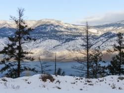 kamloops lake, british columbia, canada, winter