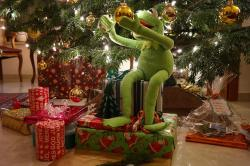 kermit, frog, green, gifts, made, christmas