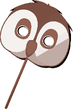 kids, face, cartoon, template, owl, free, toy, game