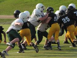 kids, football game, tackle, players, sport