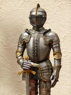 knight, armor, ritterruestung, old, middle ages, metal