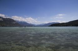lake, annecy, mountains, scenery, france, alps