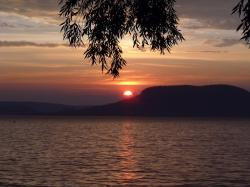 lake balaton, sunset, badacsony, landscape, nature