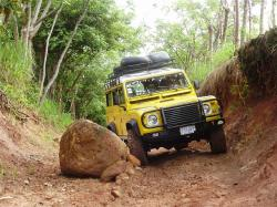 land rover, defender, adventure, obstacle