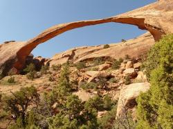 landscape arch, arches national park, usa, utah, moab