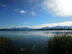 landscape, chiemsee, upper bavaria, see, mountains