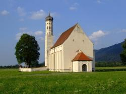 landscape, church, coloman sanctuary, germany, bavaria