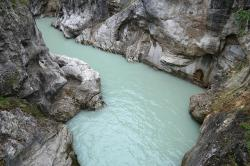 lech, river, clammy, water, gorge, rock, canyon