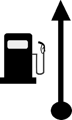 left, map, symbols, time, route, pump, sports, petrol