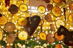 lemon slices, dried lemon slices, gingerbread heart