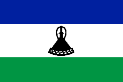 lesotho, flag, national flag, nation, country, ensign