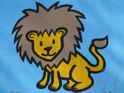 lion, comic, fig, image, paint, cartoon character