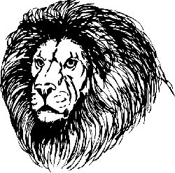 lion, lionhead, cat, head, black, tribal, outline