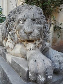 lion, stone, stone lion, statue, imposing, strong