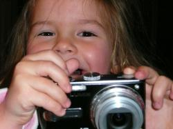 little, girl, camera, fun, face, photographer, female