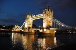 london, the waterfront, tower bridge, view, night