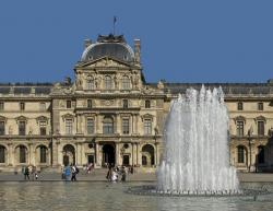 louvre palace, paris, france, building, architecture