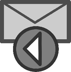 mail, flat, theme, action, reply, icon