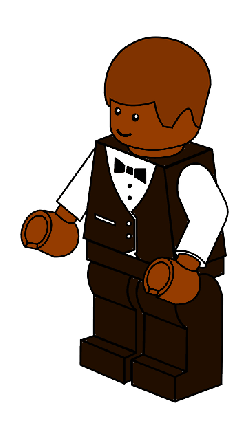 man, kids, cartoon, toy, town, lego, waiter