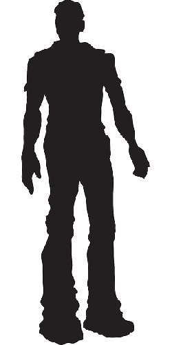man, silhouette, male, person, standing, pose