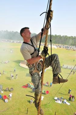 man, training, climbing, nature, outside, military