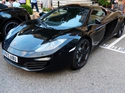 mclaren, sports car, racing car, black, auto, vehicle