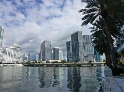 miami, florida, skyline, building, architecture, water