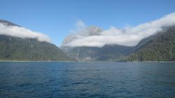 milford sound, new zealand, sea, water, mountains