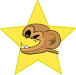 monkey, star, angry, cartoon, crazy, animal, mammal