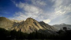 mont blanc, italy, sky, clouds, mountains, landscape
