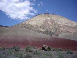 mountain, hill, red, sky, oregon