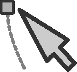 mouse, flat, drawing, vector, cursor, points, select