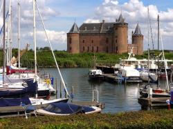 muiden, the netherlands, lake, harbor, water