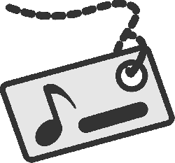 music, flat, theme, tag, name, icon