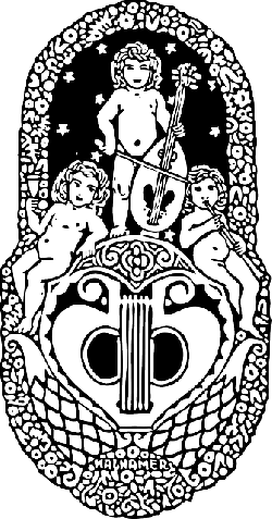 music, outline, silhouette, musical, play, cherubs