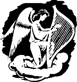 musical, angel, harp, night, wings, playing, instrument