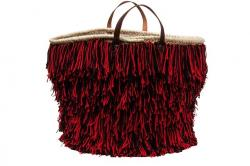 nakwa, basket, bag, trend, south of france, wool fringe