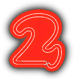 neon, two, numbers, numerals, sign, decoration