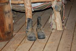 old boots, worn out, cabin, outback, australia