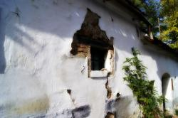 old house, window, wall, building, facade, old, white
