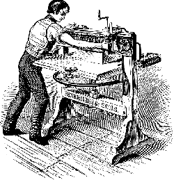 old, printer, paper, style, press, cutter, employee